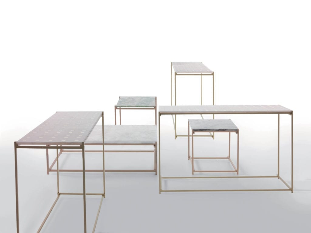 Kreoo Nodo tables may be used in modular arrangements or stand alone.