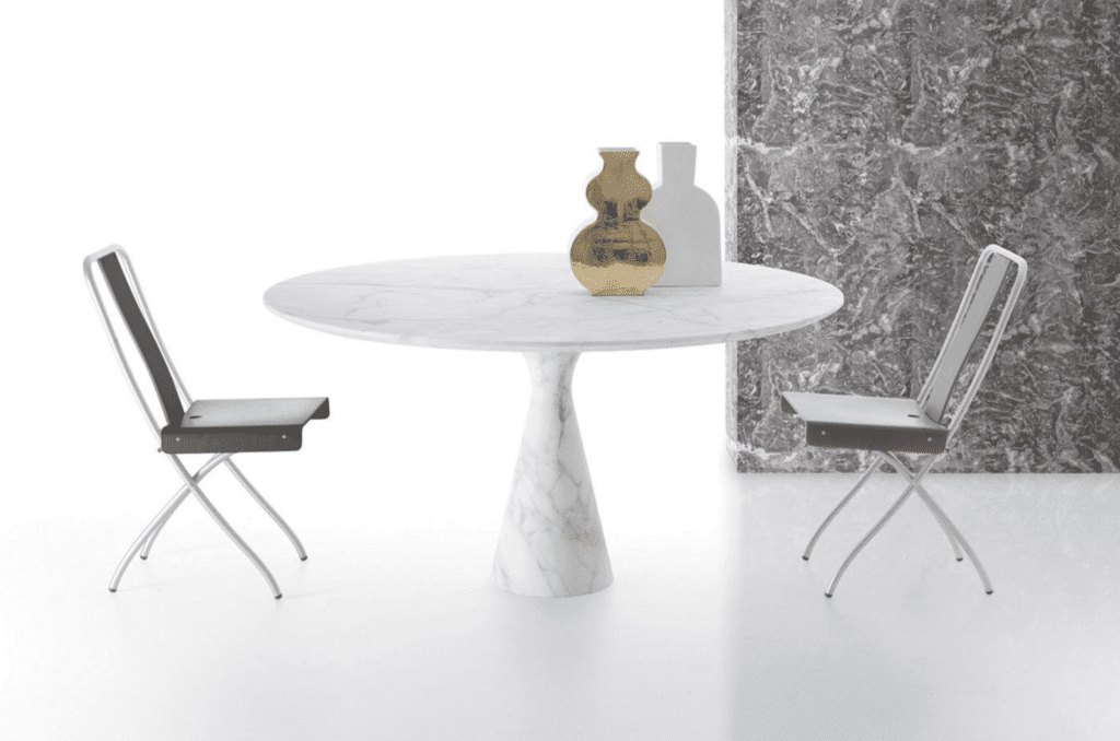 Kreoo new Torre Maxi dining table solid marble
