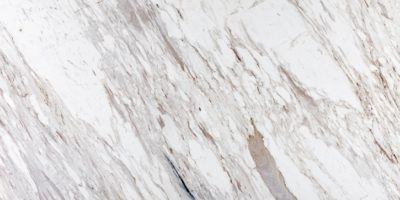 White calacatta marble with brown flecks