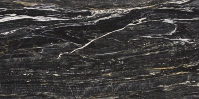 Zebrino black white and gold striped marble