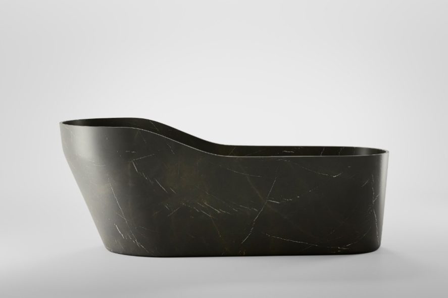Kalypso stone tub dark grey