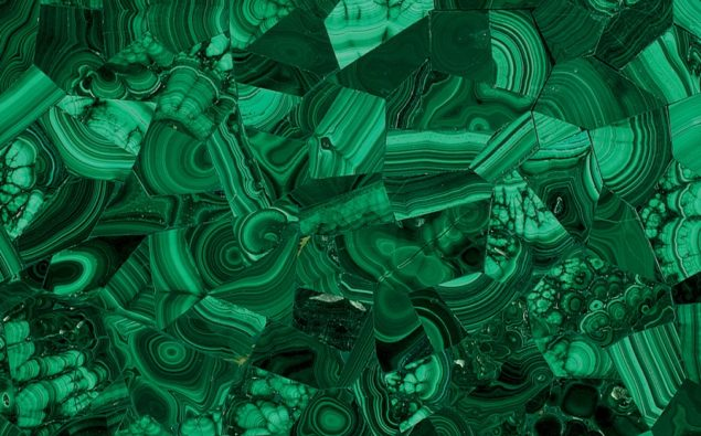 Green Malachite semi-precious stone slab