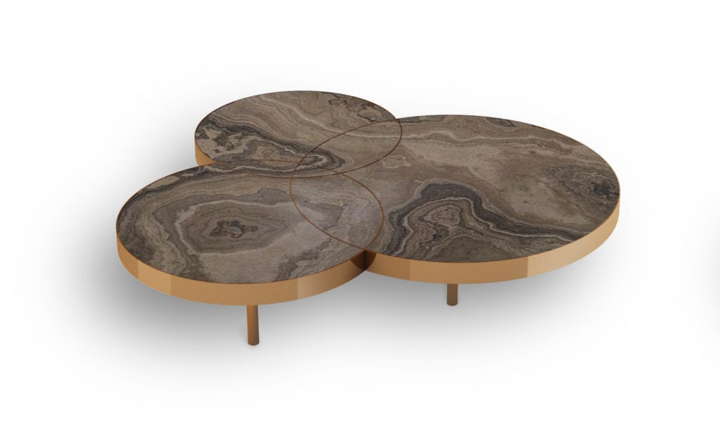 Jackie circular stone table