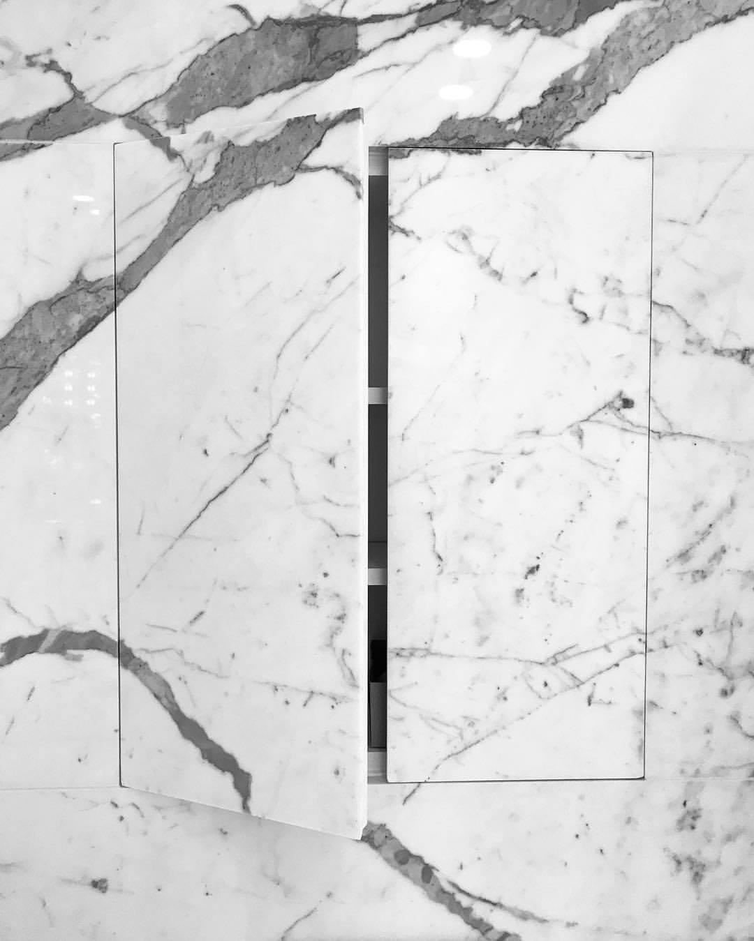 White Grey Marble Cabinet Doors | The Davani Group