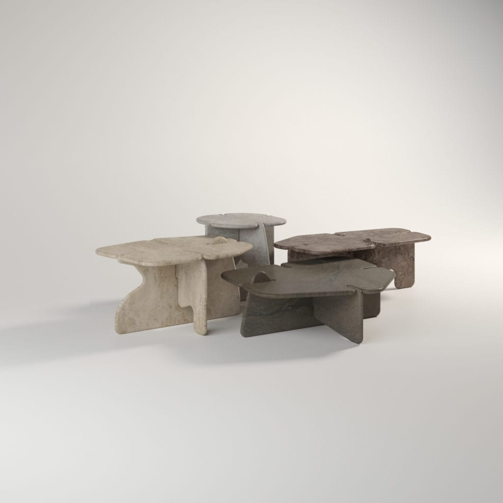 lame stone nesting tables