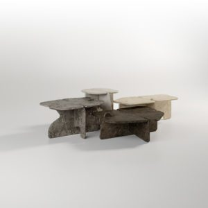 DAVANI nesting tables architectural digest end tables occasional tables stone
